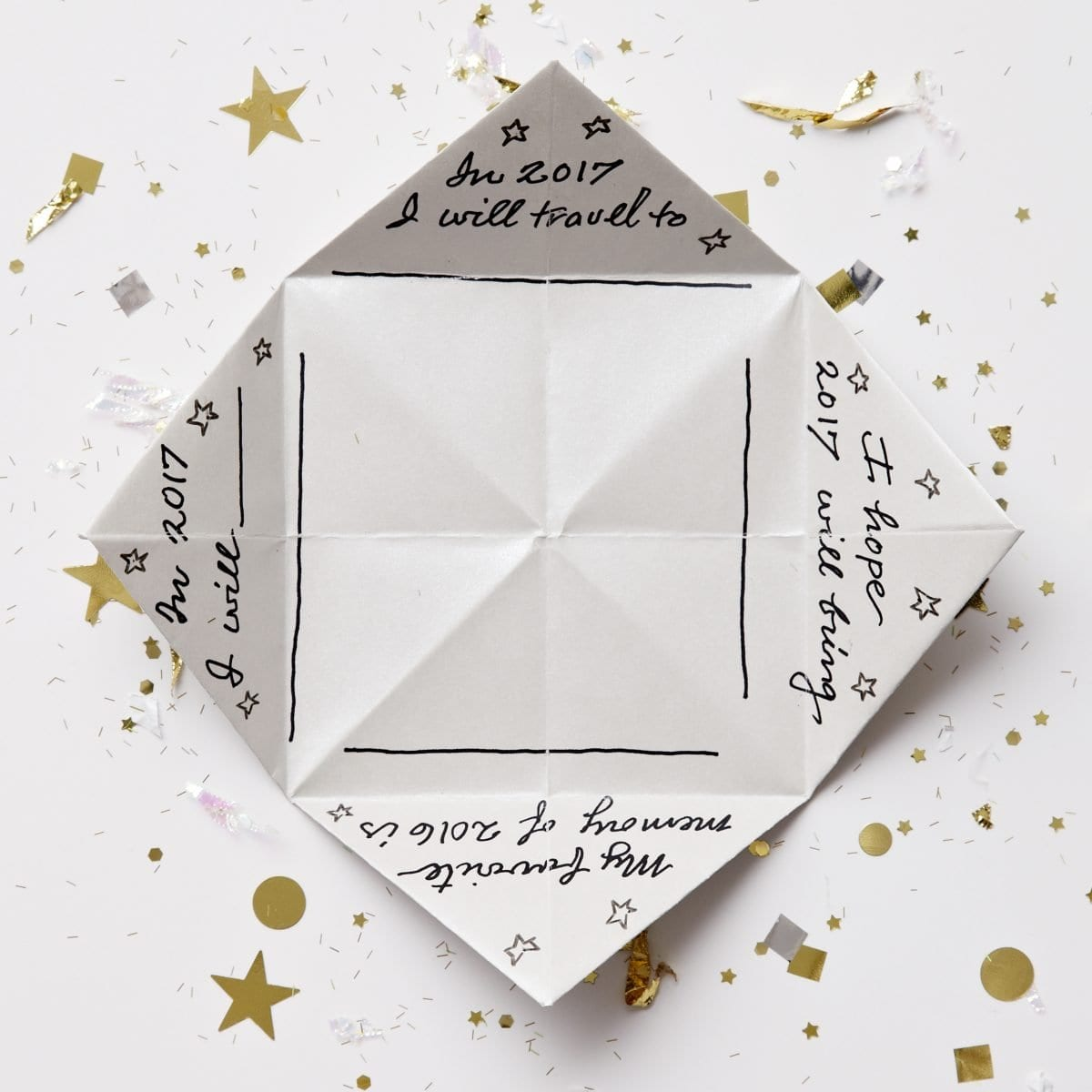 folded paper fortune teller This back to school paper fortune teller 2 – cut out the fortune teller and fold according to directions 3 – play a round or two with your favorite students.
