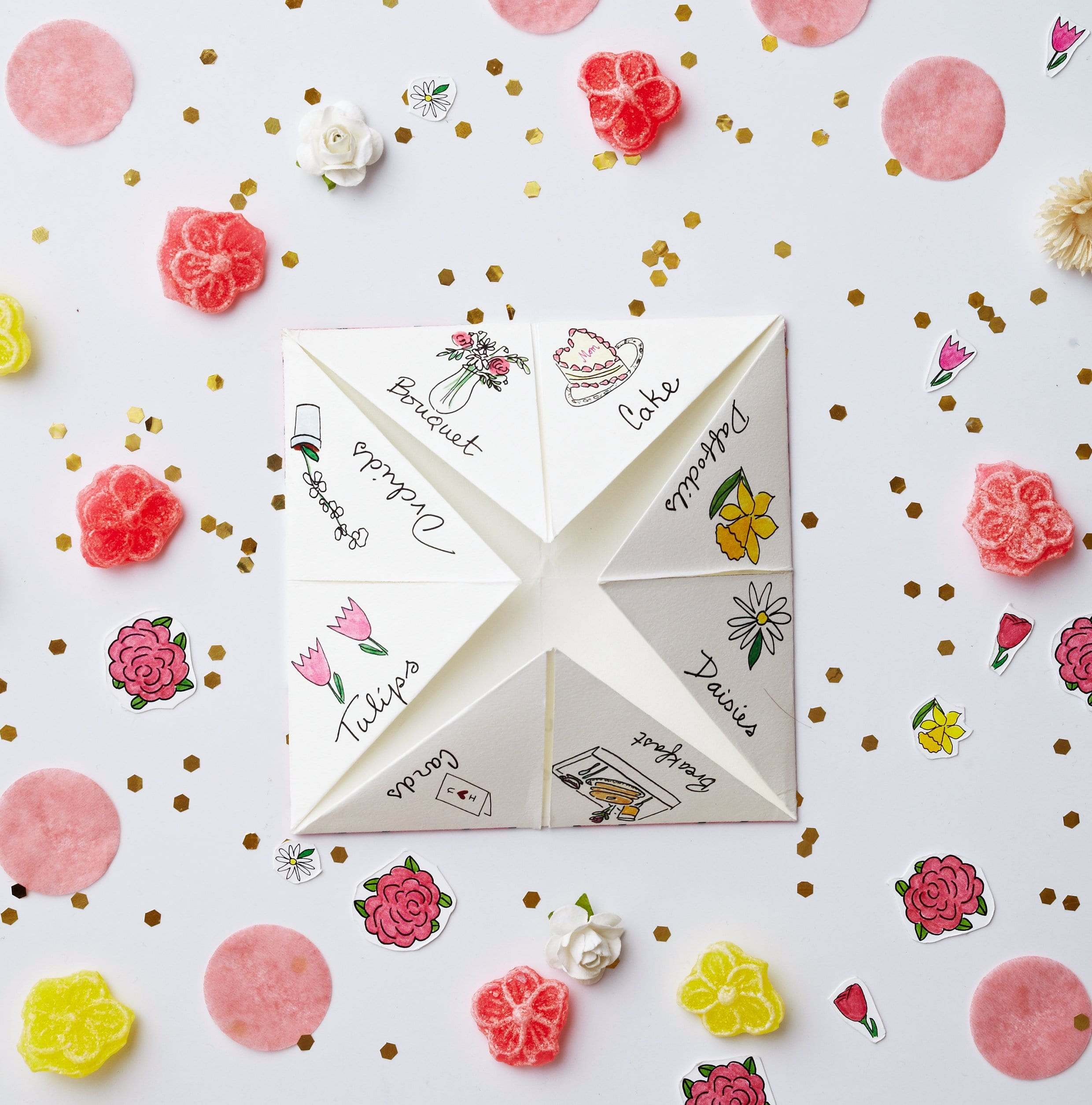 Darcy Miller Mothers Day Cootie Catcher | Darcy Miller Designs