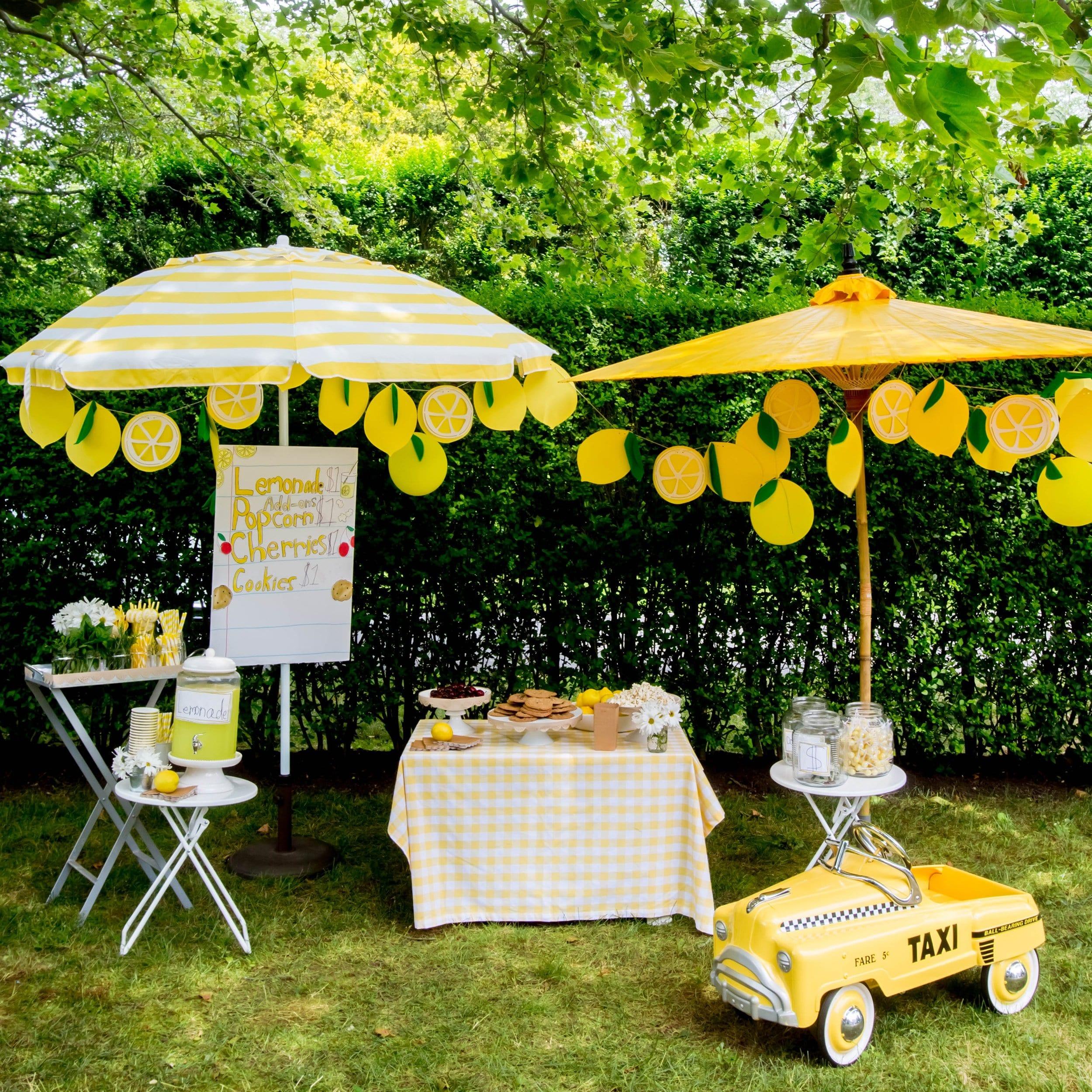Lovely lemonade stand darcy miller designs for Lemon shaped lemonade stand