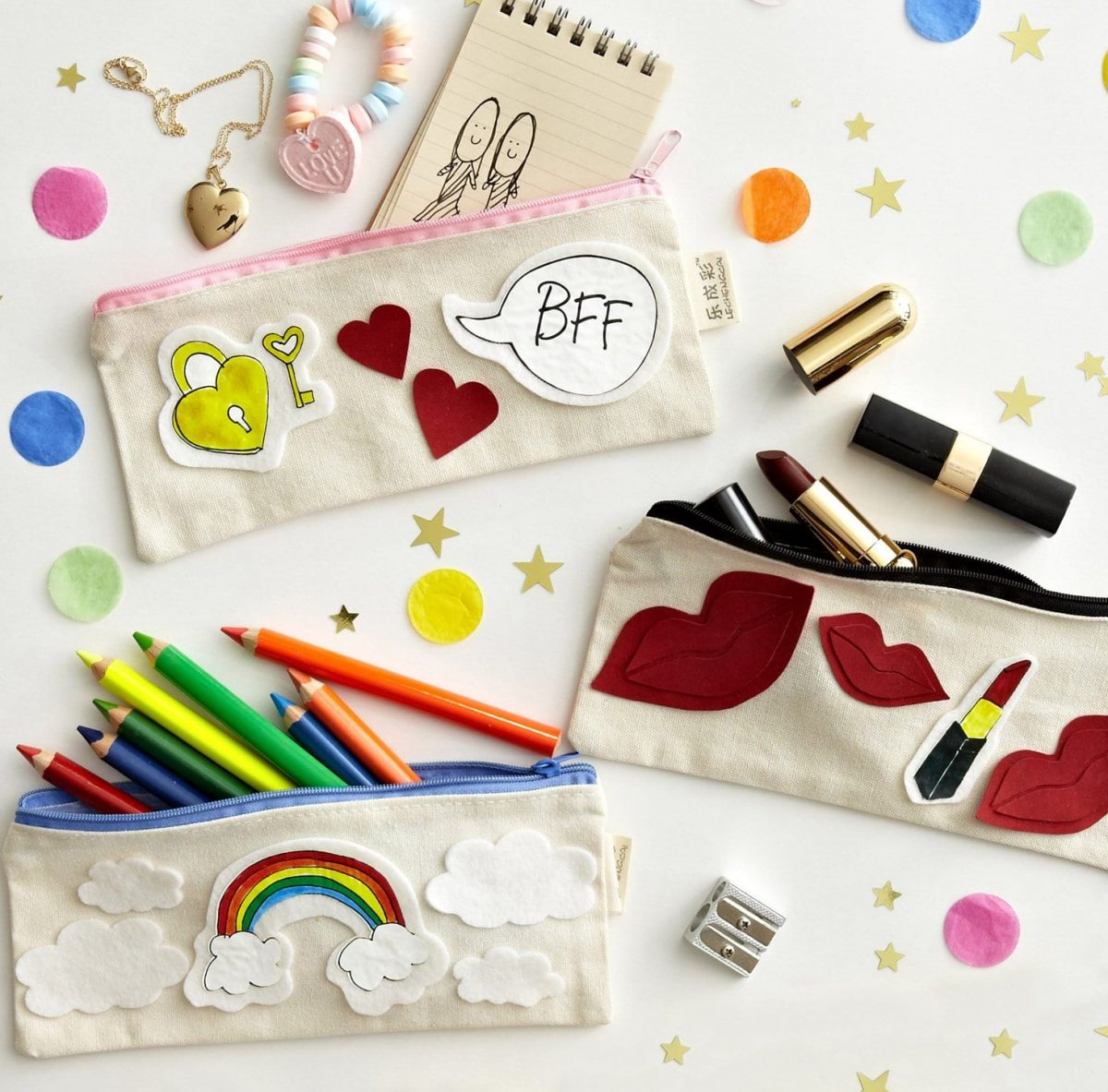 Darcy Miller Designs_Fall Fashion_DIY_Patches_pencil cases