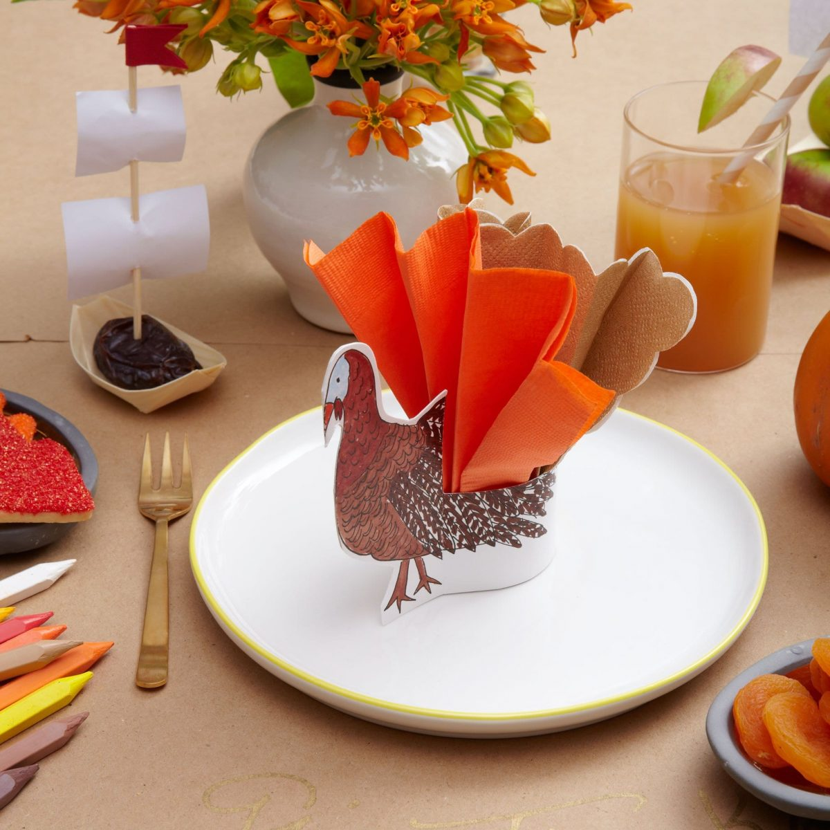 Darcy Miller Designs Thanksgiving Kid's Table Thanksgiving, Kids Table, Paper Craft, Coloring, Mayflower, Healthy Snacks, Turkey Craft, Apple Craft, Crab Apples