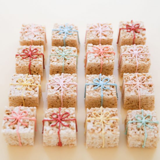 Darcy Miller Designs_Rice krispies, party favor, party treat, easy snack, creative decoration, holiday snack, birthday