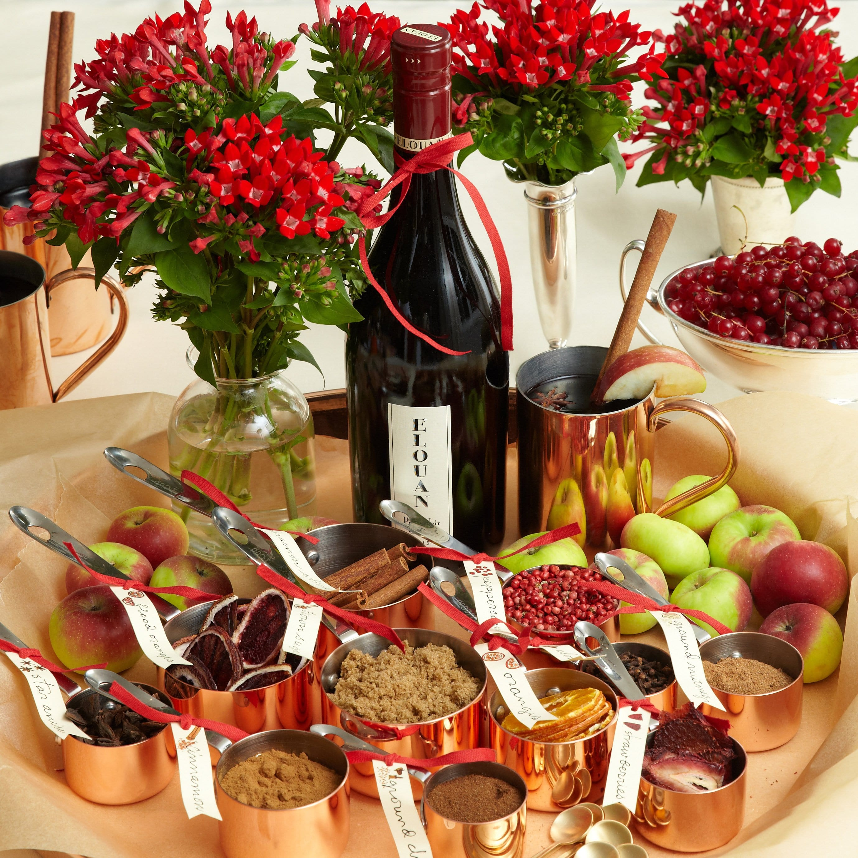 Darcy Miller Designs_mulled wine, holiday, new year's, christmas drink, winter drink, party drink, creative bar