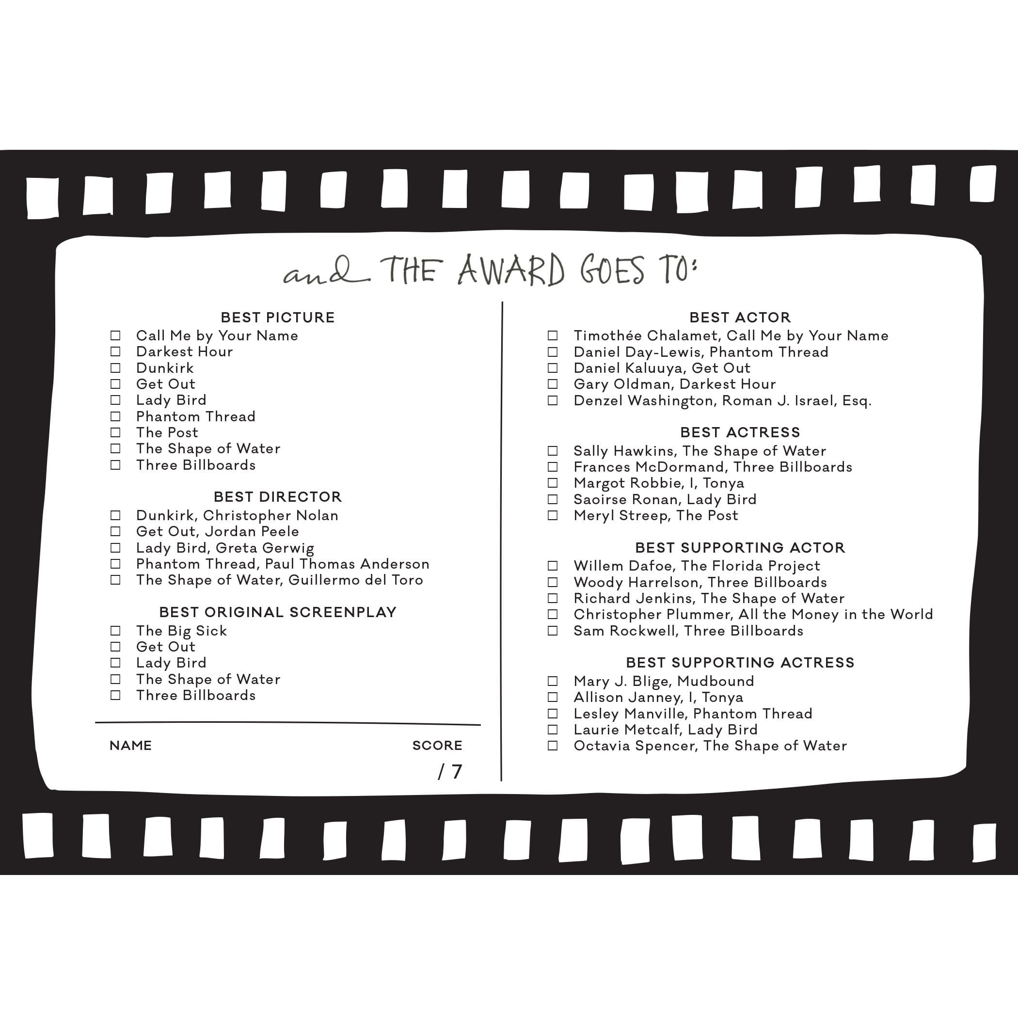 2017 Golden Globe Awards Printable Ballot as well Academy Awards 2014 Jason Bateman Jennifer Lopez Among Actors Invited To Join Oscar  mittee moreover Grammys 2018 Printable Ballot Black White List Free Nominations together with The Past Left Out Oscars Shortlist as well 2015 Academy Awards Oscars Party. on download your oscar ballot 2