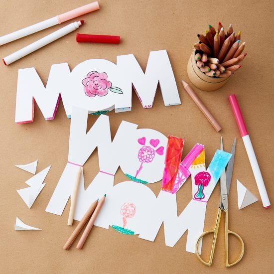 Mother's Day, card, paper craft, creative card, kid's craft, gift for mom