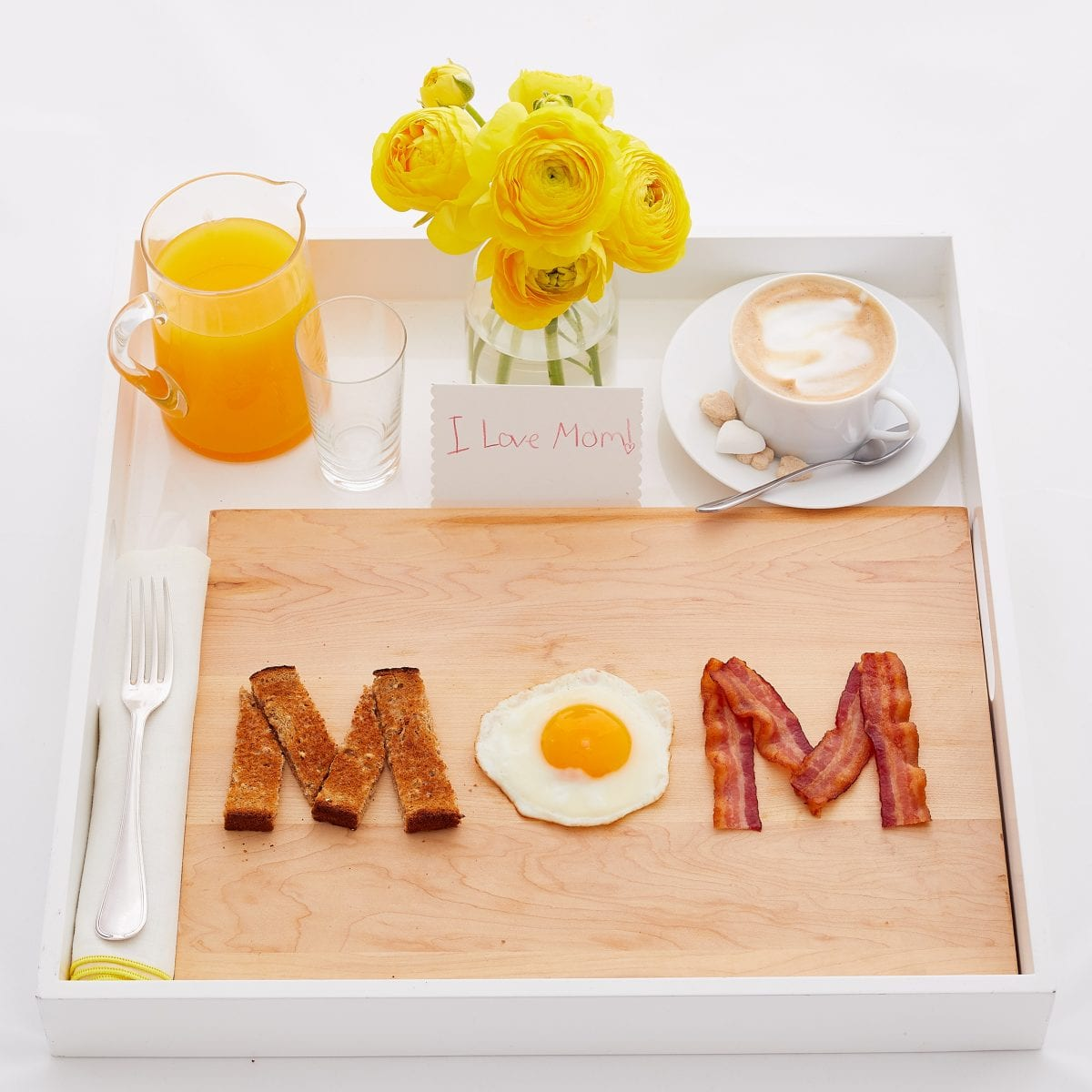 Darcy Miller, Darcy Miller Designs, Mother's Day, breakfast in bed, play with your food, creative breakfast, birthday