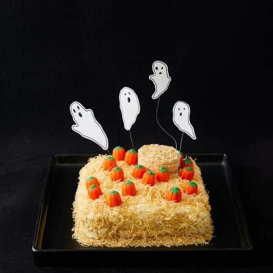 Darcy Miller, Easy, Halloween, Cake, Rice Krispies, Brownie, Icing, Ghost, Haunted, Pumpkin