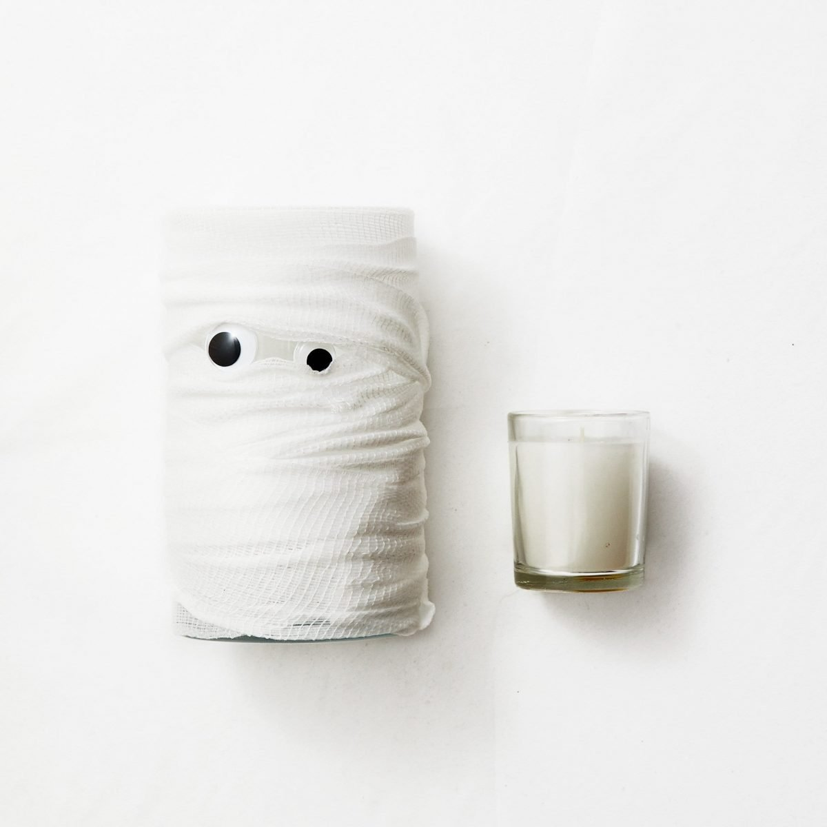 Darcy Miller, Easy, Halloween, Decor, Googly Eye, Candle, Votive, Vase, Spooky, Cute, Craft, Kids Craft