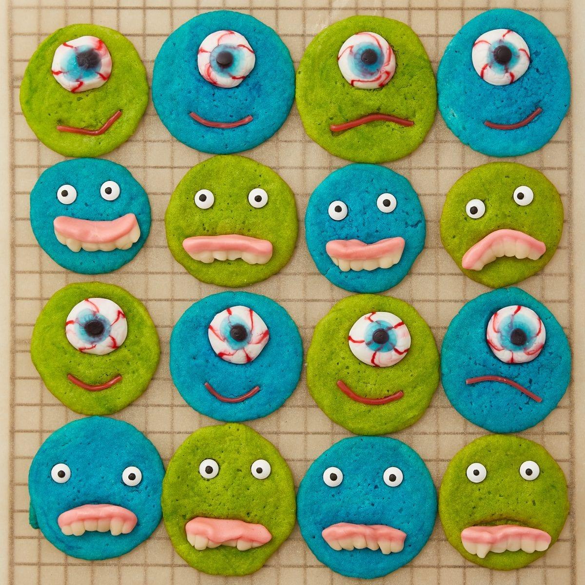 Darcy Miller, Monster, Easy, Kids Activity, Baking, Halloween, Fun, Snack, Food coloring, Cookie