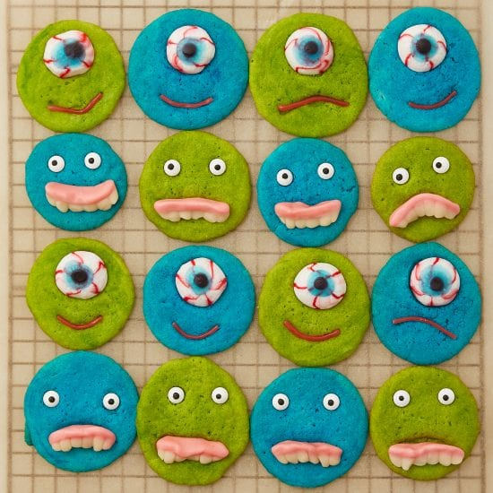 Darcy Miller, Monster, Easy, Kids Activity, Baking, Halloween, Fun, Snack, Food coloring, Cookie