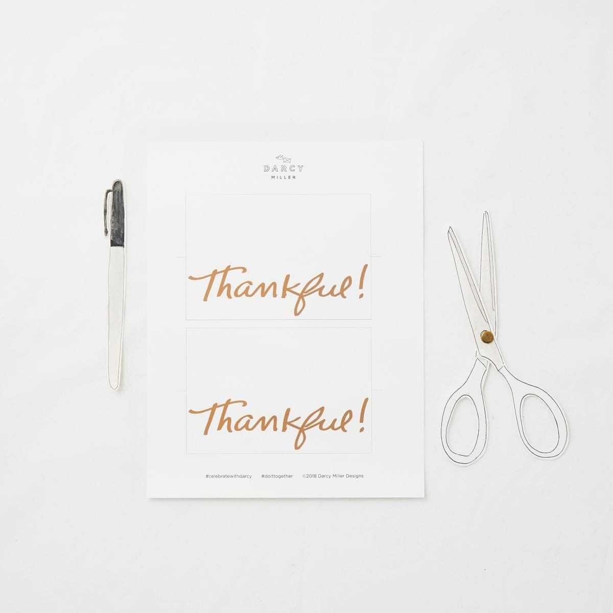 Thankful Table Card Darcy Miller Designs