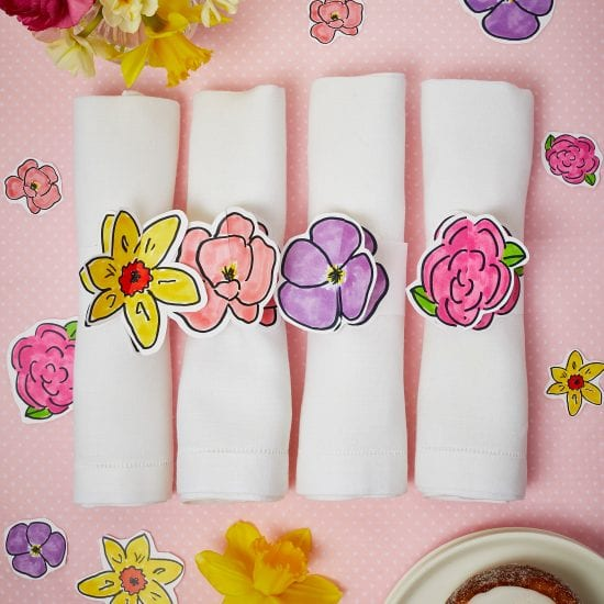 Darcy Miller, Darcy Miller Designs, Flowers, Mothers Day, Napkin Ring, Floral, Pink, Party