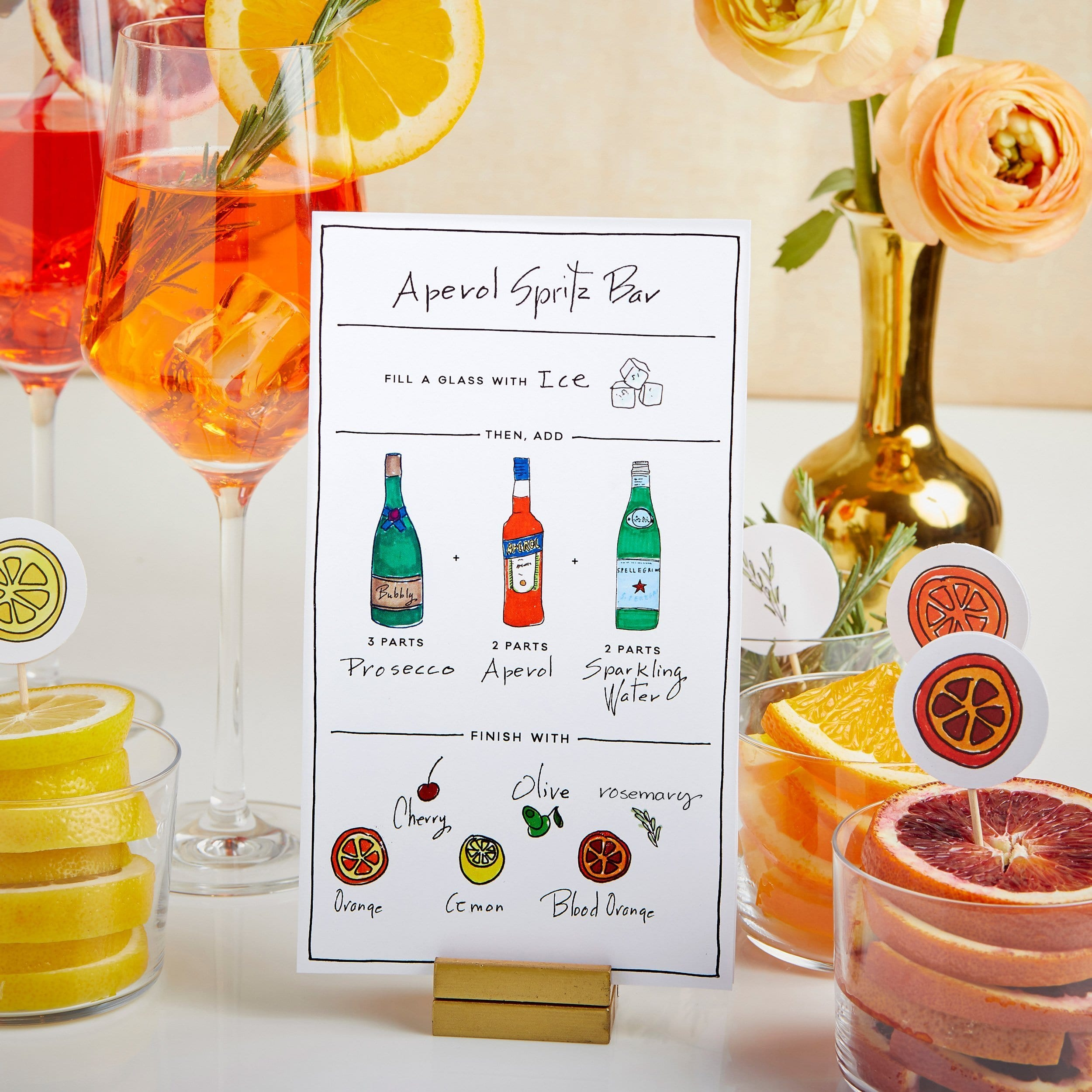 Darcy Miller Designs, Darcy Miller, Spritz Bar, Party, Aperol Spritz, Bridal Shower