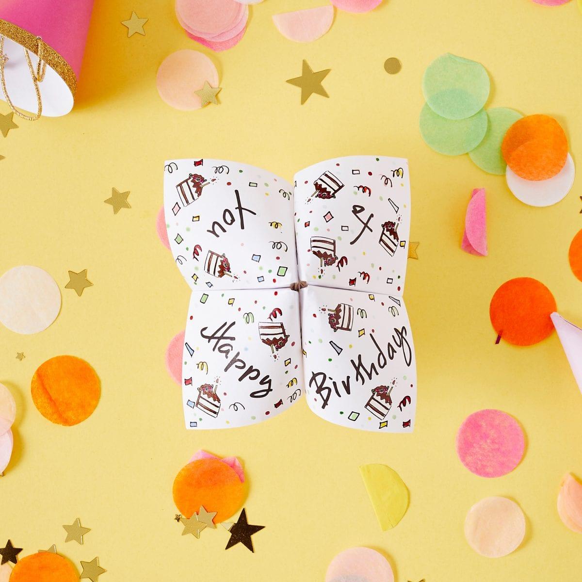 Darcy Miller Designs, Darcy Miller, party, birthday, DIY, craft, birthday party, cootie catcher