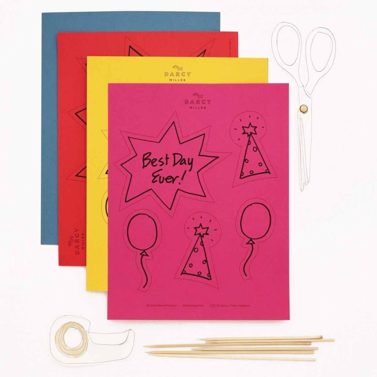 Darcy Miller Designs, Darcy Miller, party, birthday, DIY, craft, birthday party