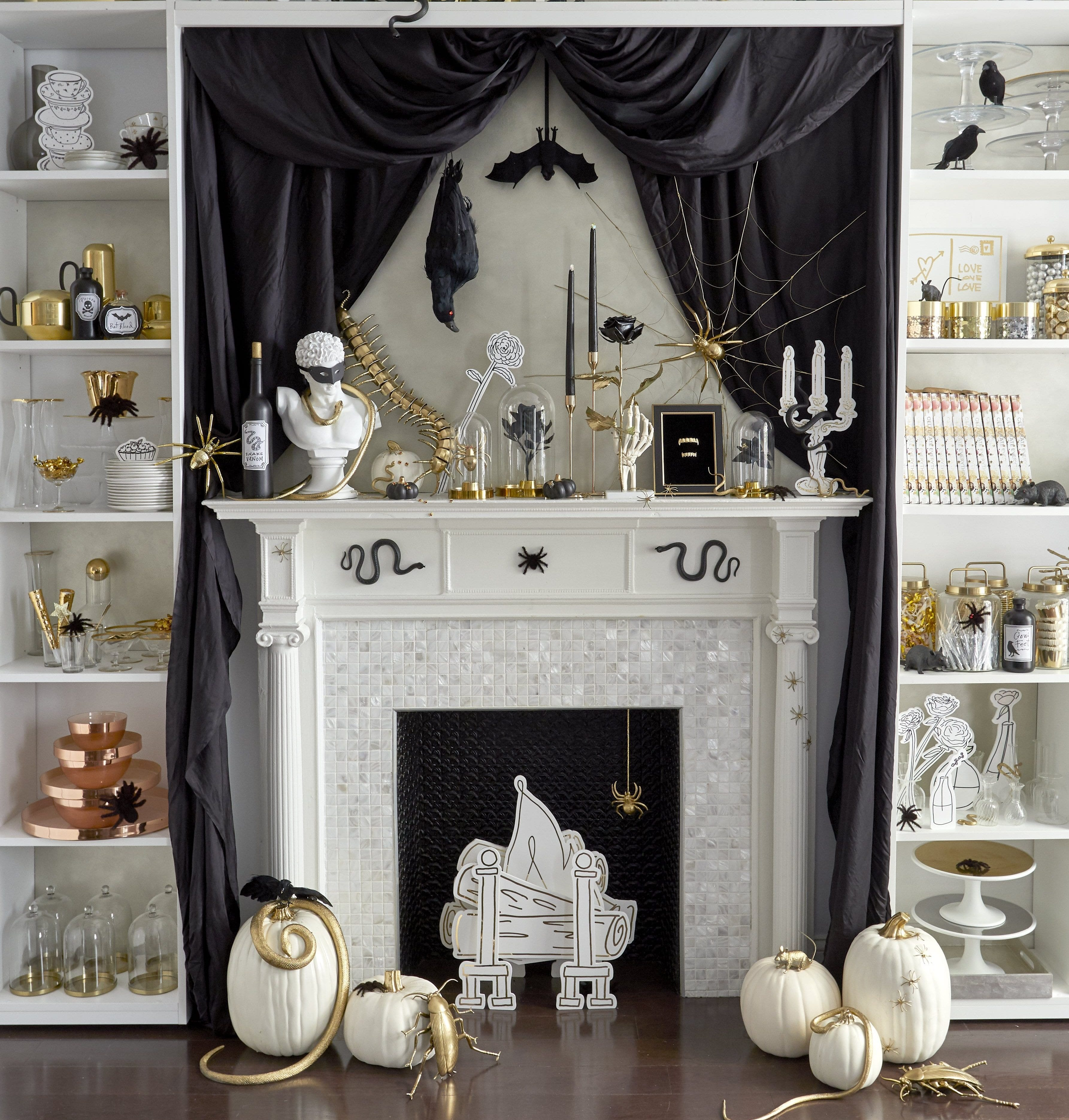 Haunted Mantel Halloween Decor