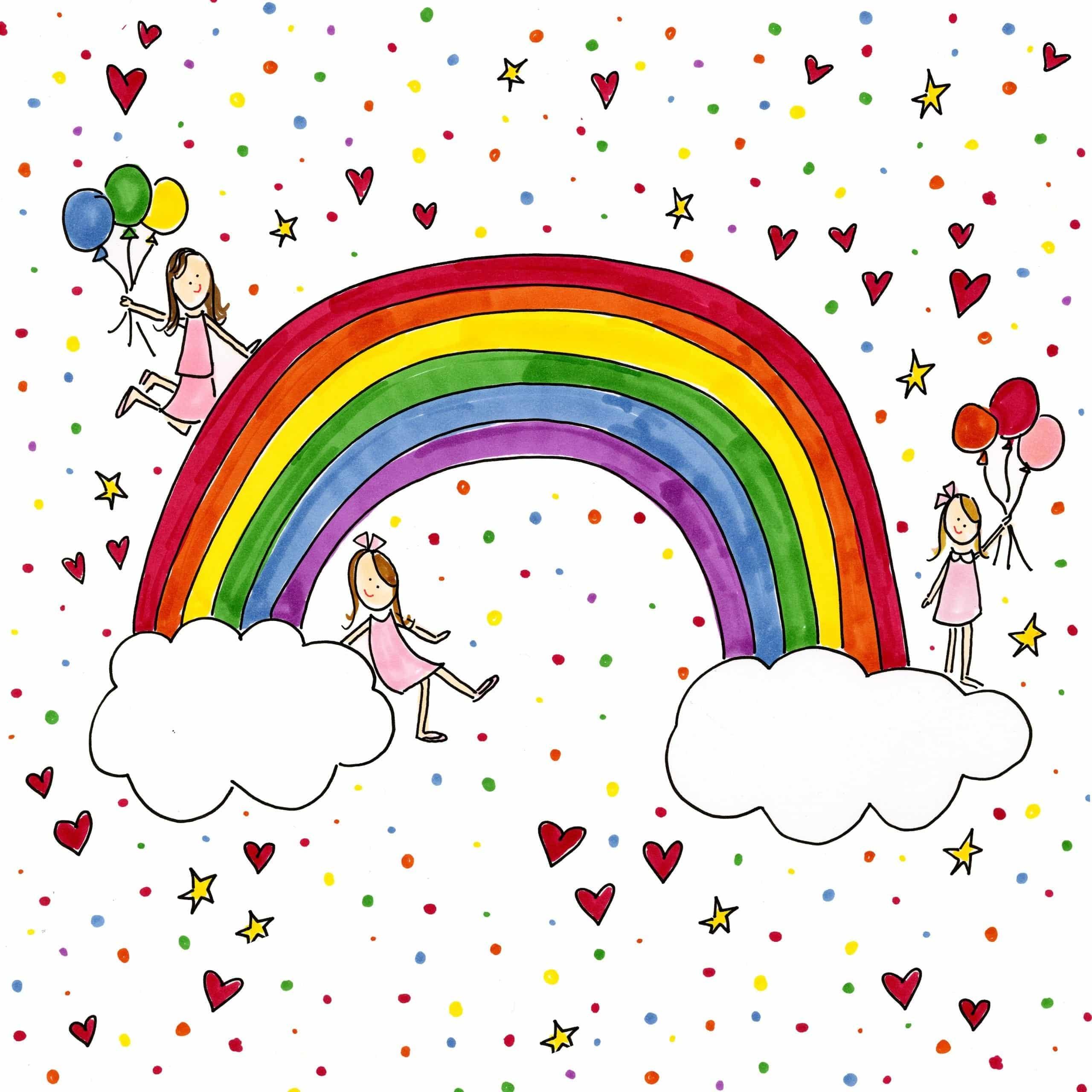 Rainbow Coloring Page Darcy Miller Designs