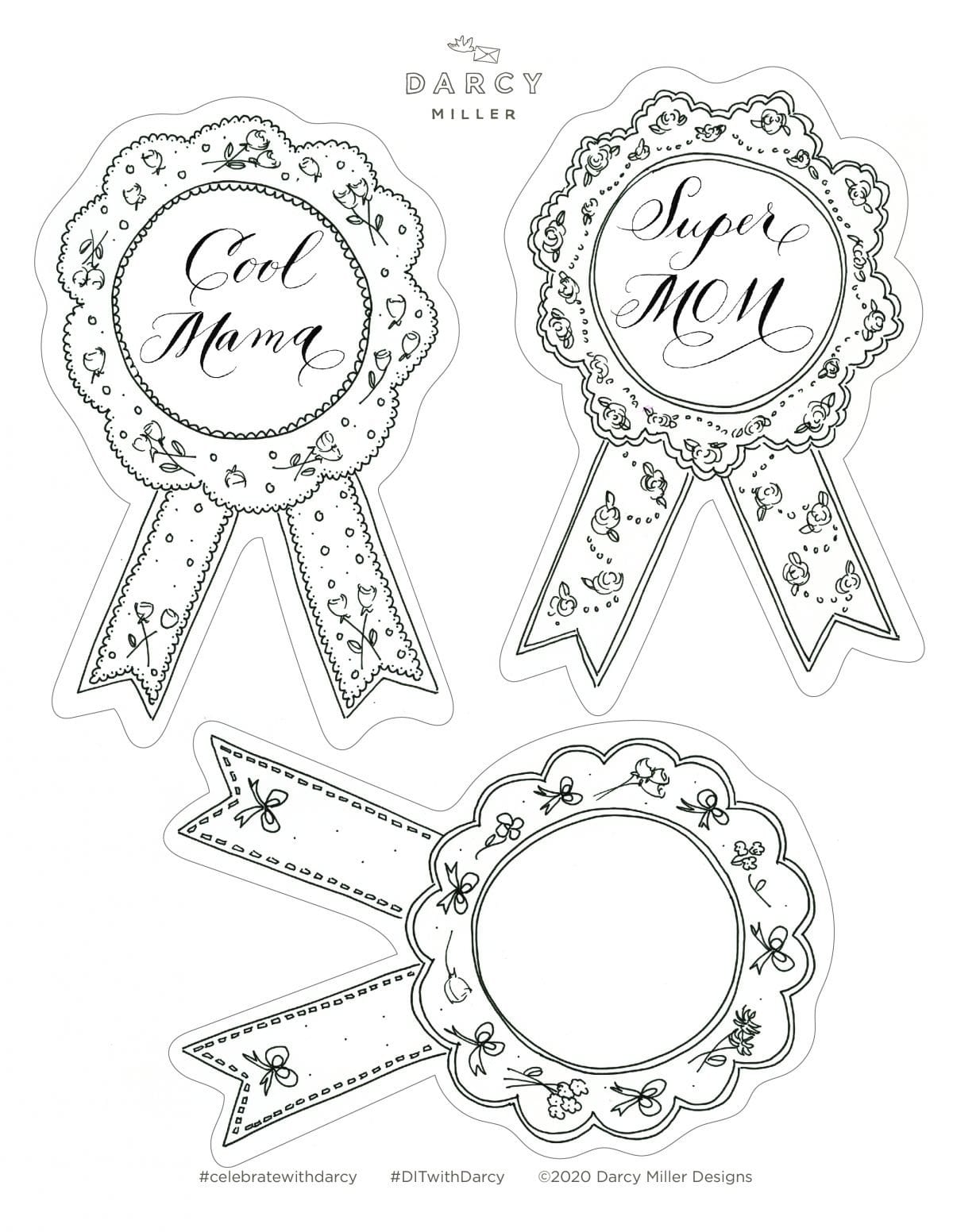 Mother's Day, card, paper craft, creative card, kid's craft, gift for mom, template, coloring page